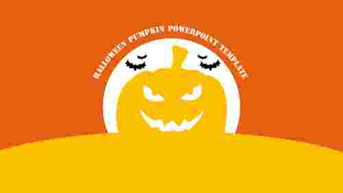 halloween pumpkin powerpoint template presentation