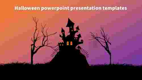 Model halloween powerpoint presentation templates