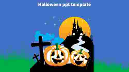 halloween ppt template design