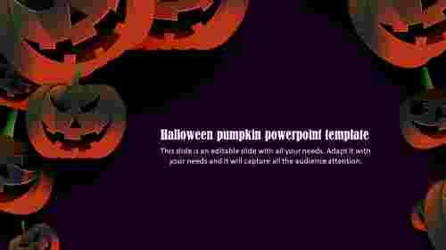 halloween pumpkin powerpoint template design