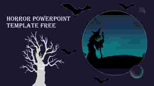 Attractive horror powerpoint template free