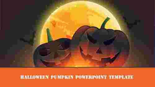 halloween pumpkin powerpoint template pumpkin design
