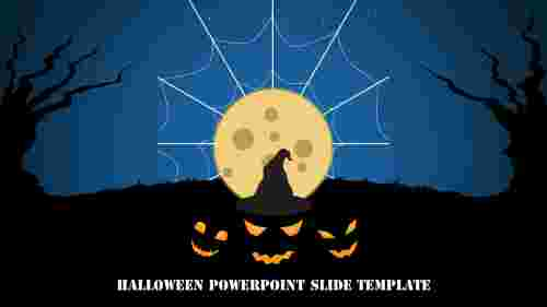 Awesome halloween powerpoint slide template