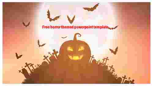 free horror themed powerpoint template design