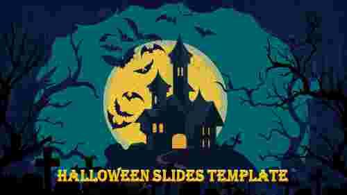 Simple halloween slides template