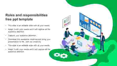 roles and responsibilities free ppt template