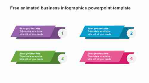 free animated business infographics powerpoint template model