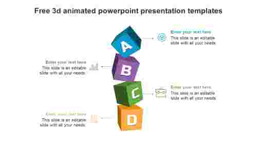 free 3d animated powerpoint presentation templates slide
