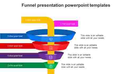 Attractive funnel presentation powerpoint templates