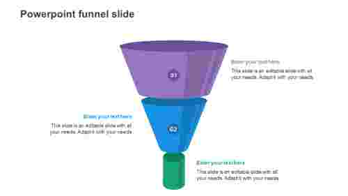 Simple powerpoint funnel slide