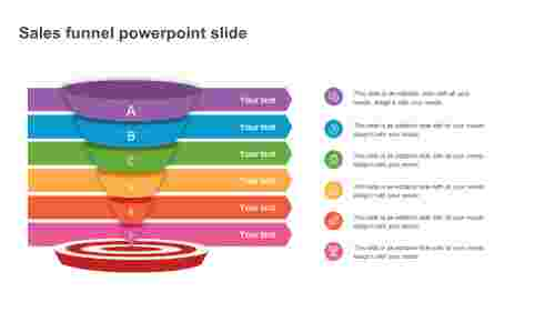 Creative sales funnel powerpoint slide