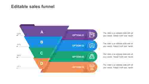 Easy editable sales funnel PowerPoint