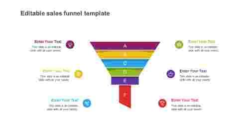 editable sales funnel template slide