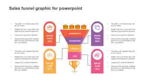 sales funnel graphic for powerpoint template