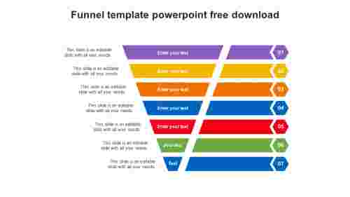funnel template powerpoint free download slide