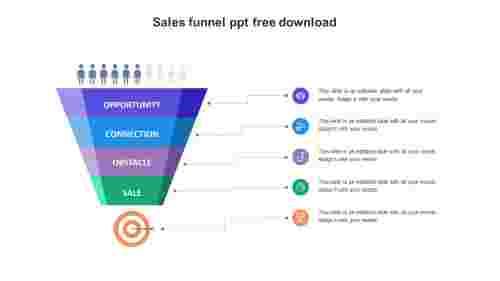 sales funnel ppt free download slide