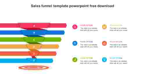 sales funnel template powerpoint free download model