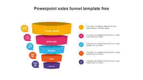 powerpoint sales funnel template free design