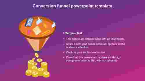 conversion funnel powerpoint template slide