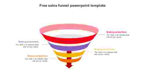free sales funnel powerpoint template slide