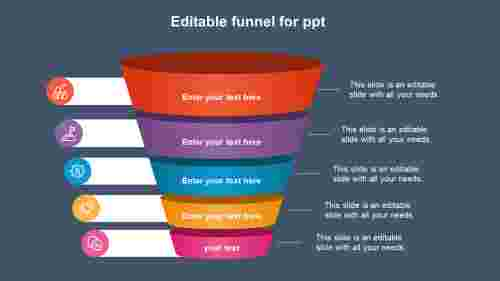 Infographics editable funnel for ppt