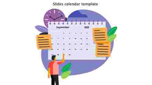 slides calendar template September month