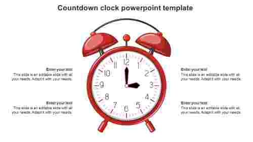 Analog countdown clock powerpoint template