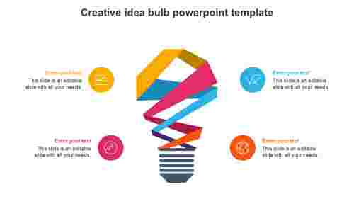 creative idea bulb powerpoint template presentation
