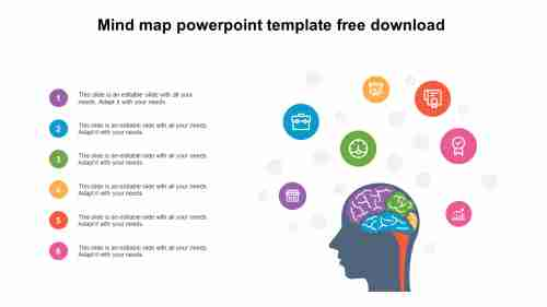 mind map powerpoint template free download design