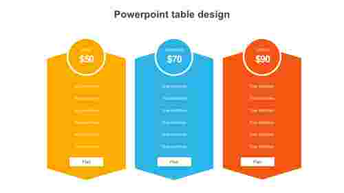powerpoint table design template