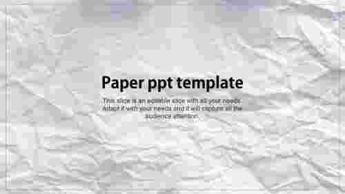 Our%20Predesigned%20Paper%20PPT%20Template%20Presentation