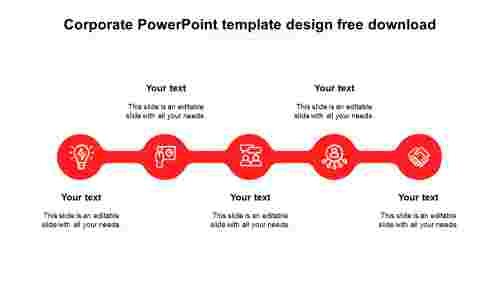 Simple corporate powerpoint template design free download