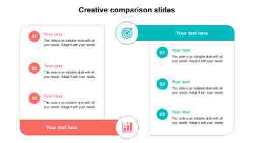 creative comparison slides template