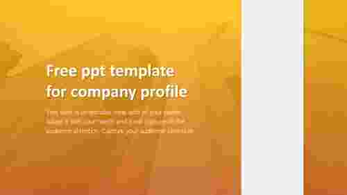 free ppt template for company profile model