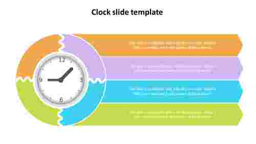 clock slide template presentation