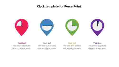 clock template for powerpoint slide