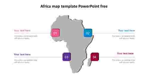 africamaptemplatepowerpointfreeslide