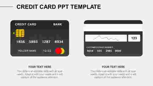 credit card ppt template
