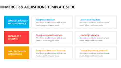 merger & aquisitions template slide