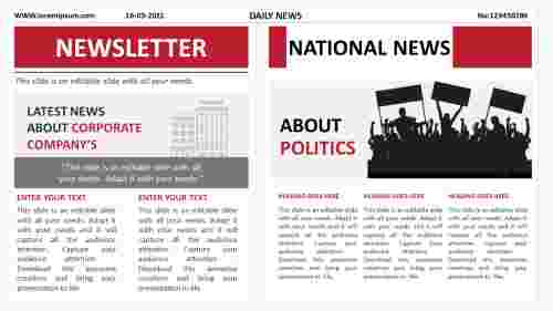 newsletter ppt presentation