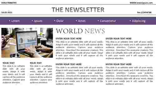 free business newsletter template download