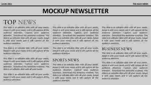 free newsletter templates powerpoint