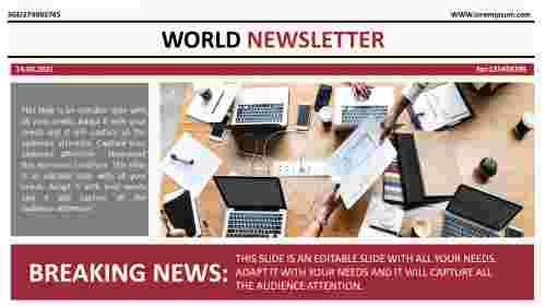 powerpoint newsletter template download