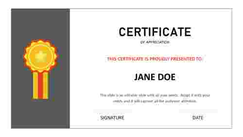 certificate of appreciation ppt template