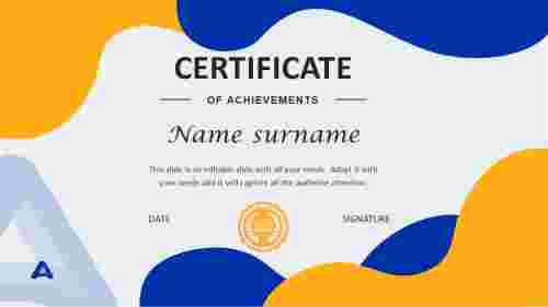 certificate of recognition template ppt
