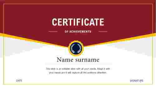 certificate template free download ppt