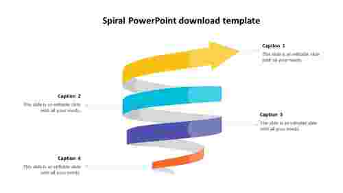 spiral powerpoint download template