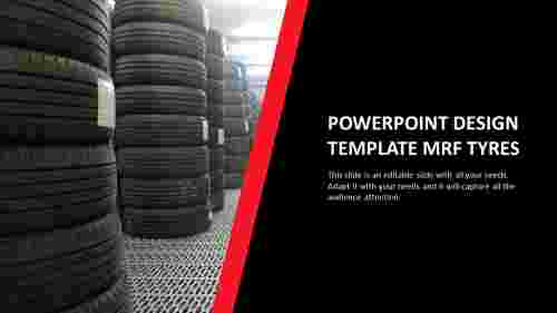 powerpoint design template MRF tyres