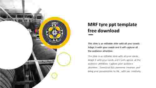 MRF tyres ppt template free download