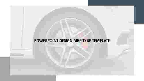 powerpoint design MRF tyre template